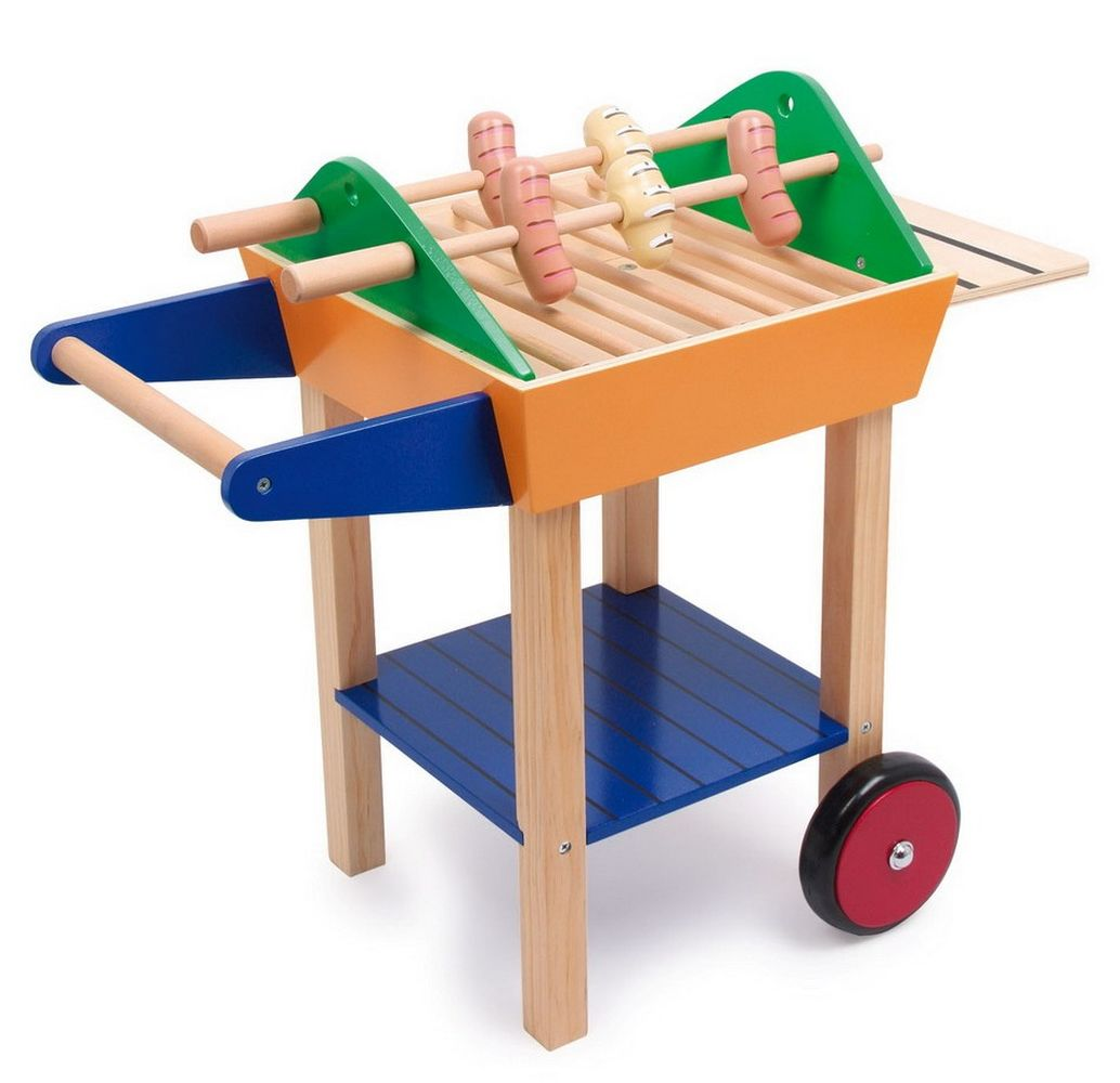 Le grand barbecue jbd jouets en bois - Dinette en bois pas cher ...