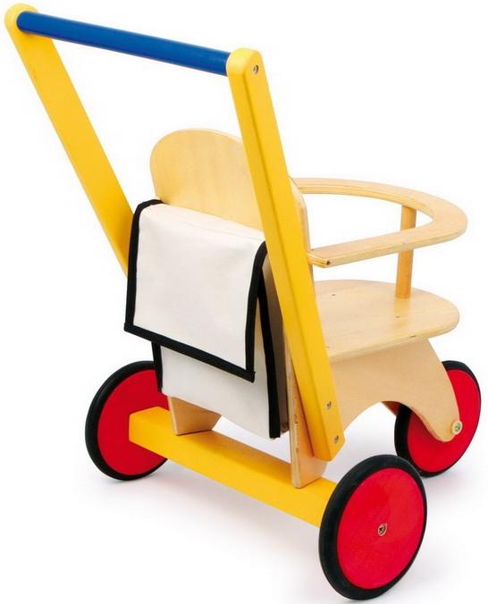 poussette trois roues jbd jouets en bois. Black Bedroom Furniture Sets. Home Design Ideas