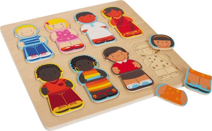 Puzzle des enfants du monde jbd jouets en bois for Portent in crossword