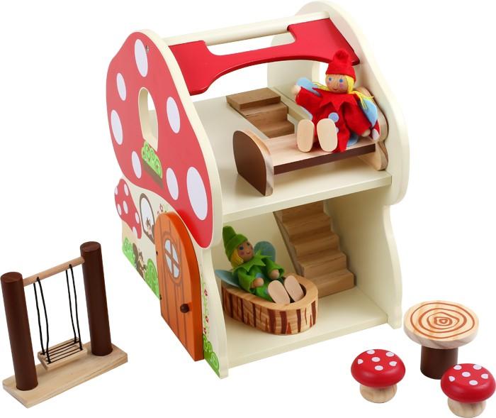 Maison de poupées champignon JBD Jouets en bois # Champignon Bois Maison