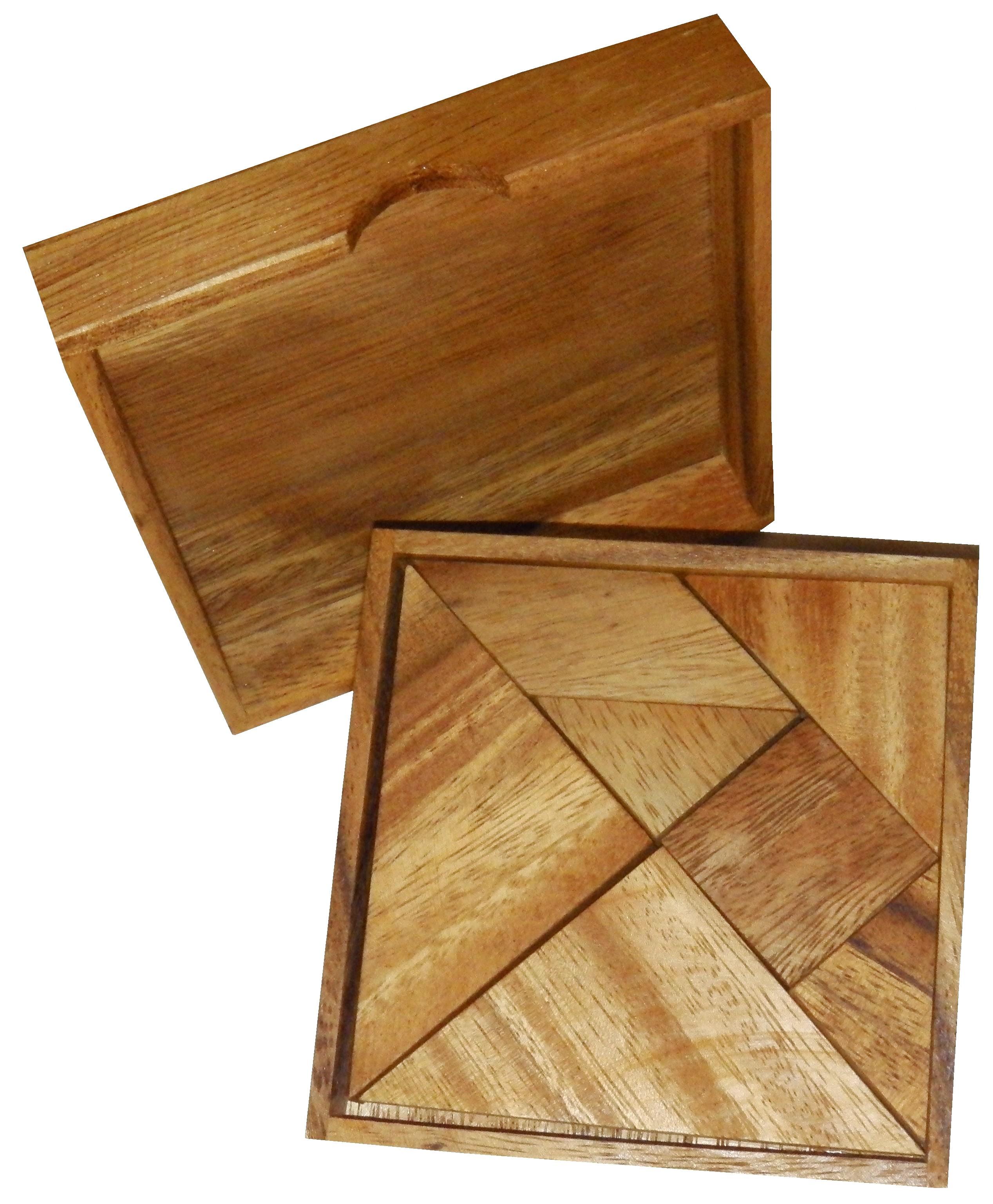 Tangram JBD Casse tetes en bois # Solution Casse Tete En Bois
