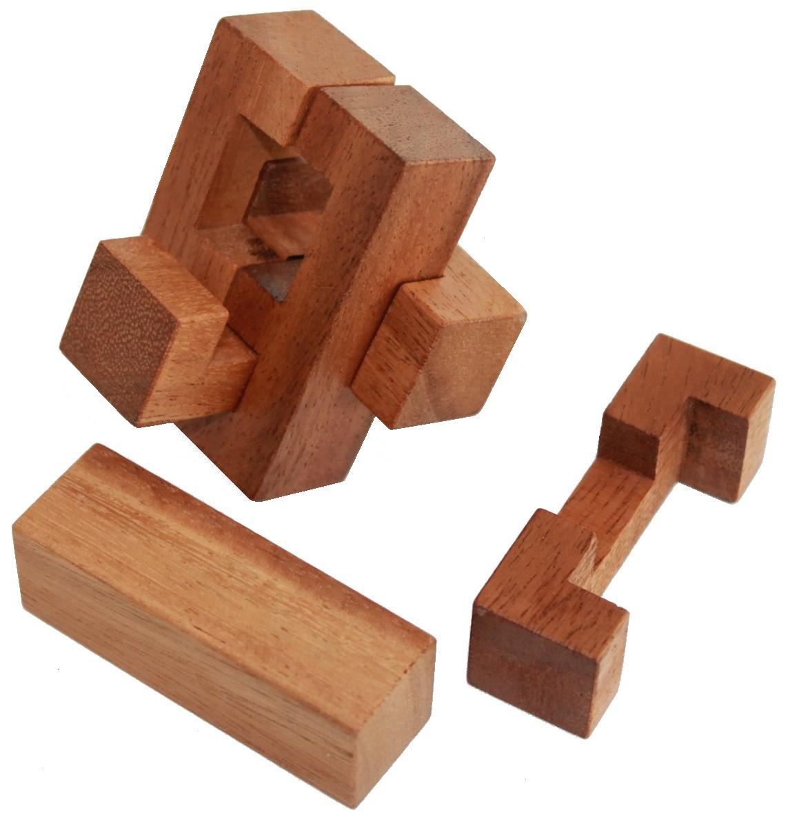 Puzzle 6 pi u00e8ces JBD Casse tetes en bois # Casse Tete En Bois Solution Croix De Charpentier