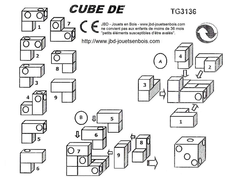 Le puzzle dé - JBD Casse tetes en bois