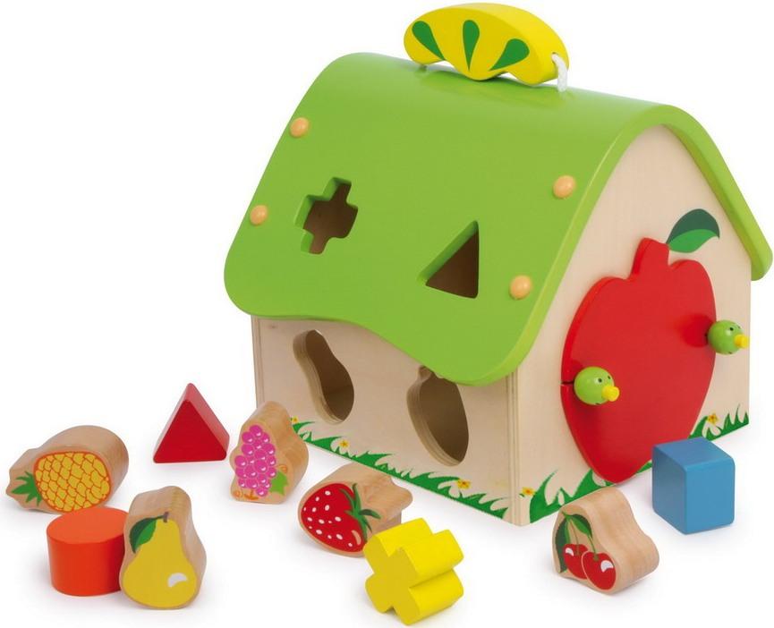 Maison Des Formes Et Des Fruits Jbd Jouets En Bois