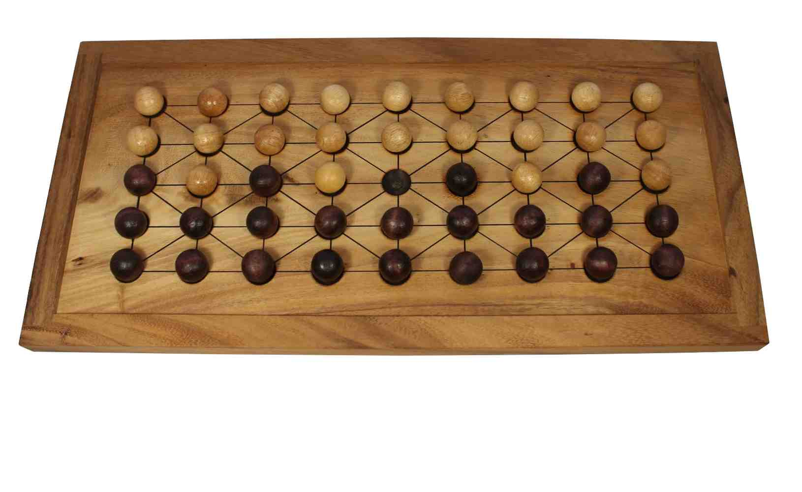 Fanorona Or Malagasy Checkers Jbd Wooden Board Games