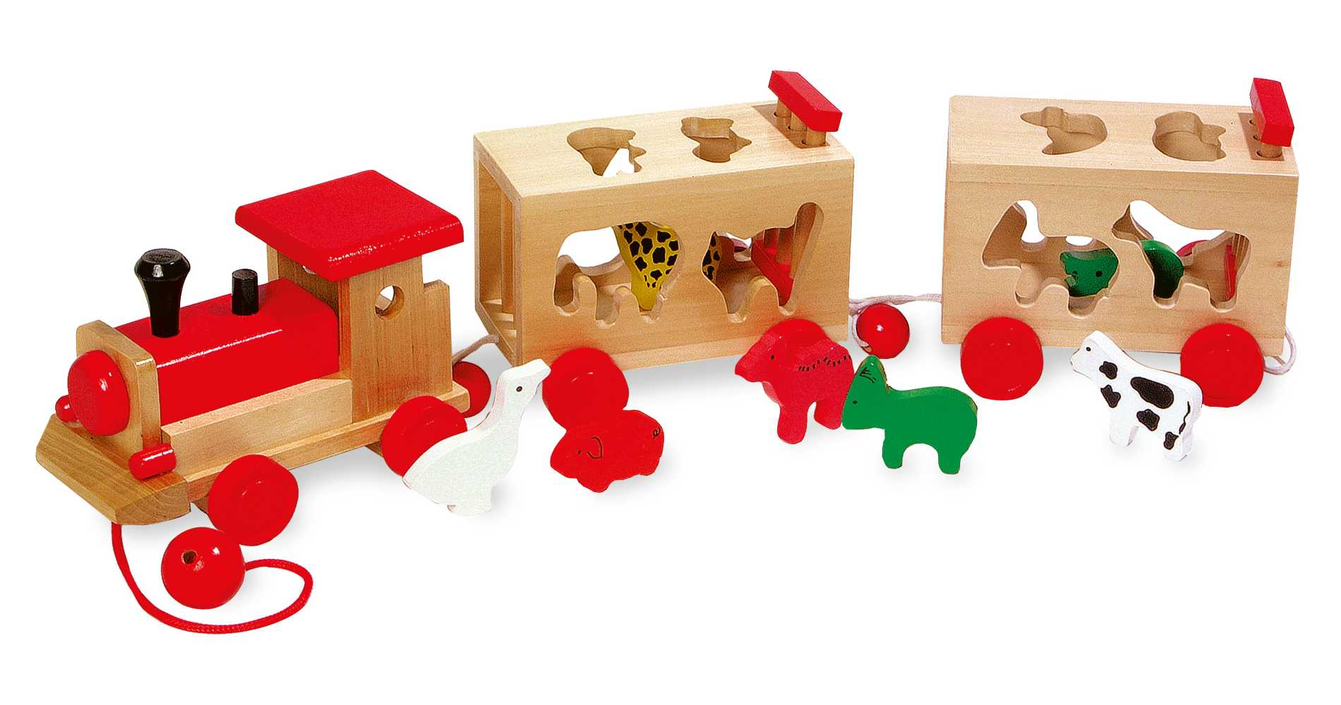 train des animaux a encastrer jbd jouets en bois. Black Bedroom Furniture Sets. Home Design Ideas